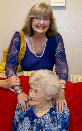 Aunt Mittie on her 99th Birthday