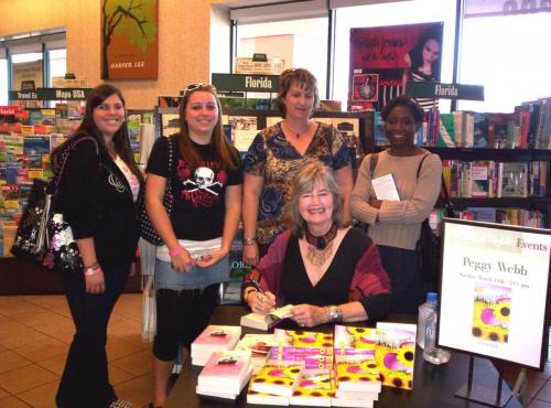 Chatting with fans at Barnes & Noble Pensacola