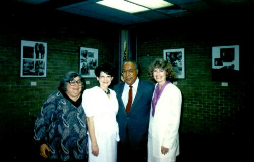 Peggy with Alex Haley, Lee County Library, Tupelo, MS