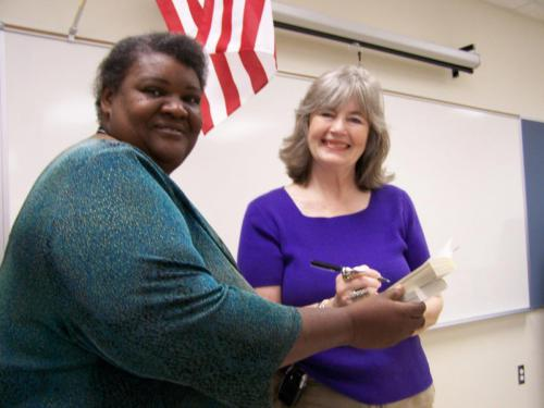 Peggy with Sharon Smith Molino 4th grade