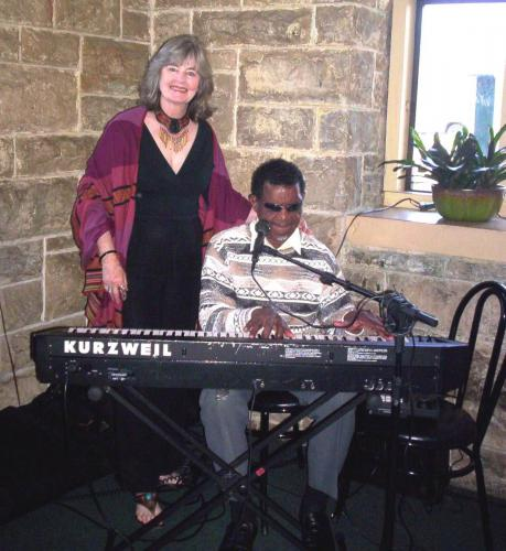Peggy with bluesman Clarence Bell