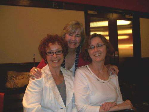 Peggy with thriller writer Mallory Kane (Rickey Mallory) and New York Times bestselling author, Erica Spindler on April 10 for the Mississippi Writes event.